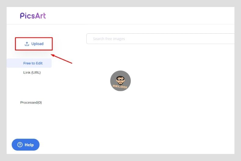 Klik tombol upload pada halaman piscart