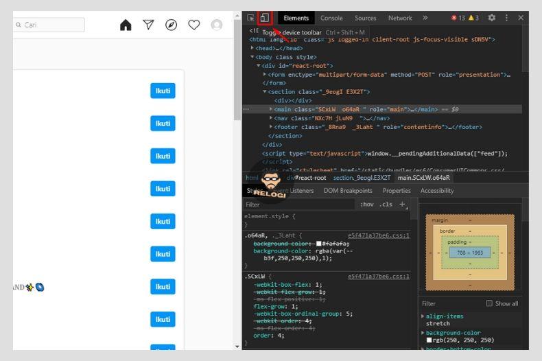 Klik ikon tablet&hp