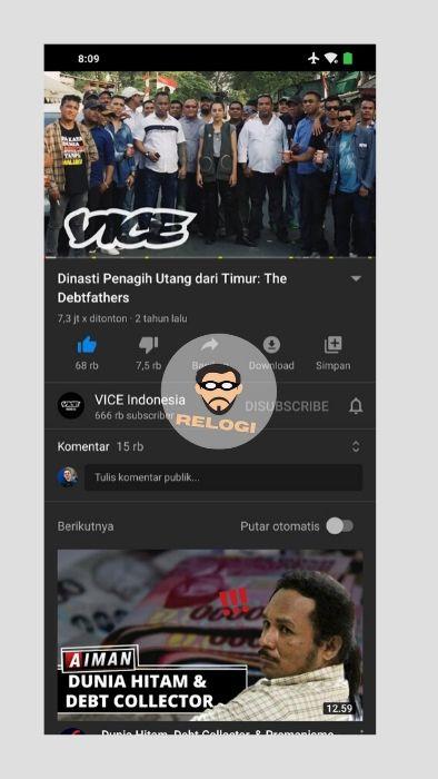 Klik video yang ingin ditonton