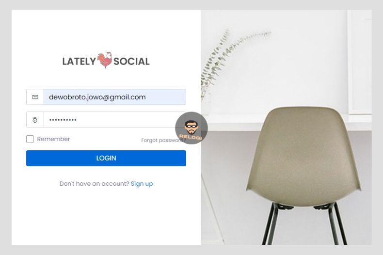 Login latelysocial.com