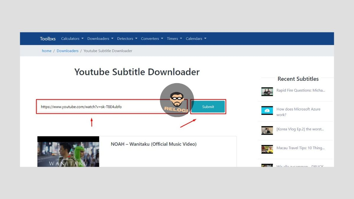 Paste url video pada form site