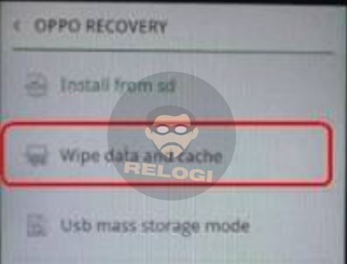 wipe data di recovery mode