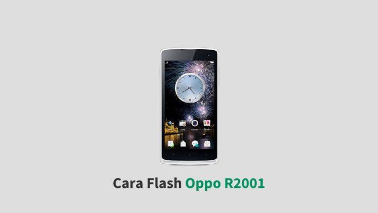 Cara Flash Oppo R2001