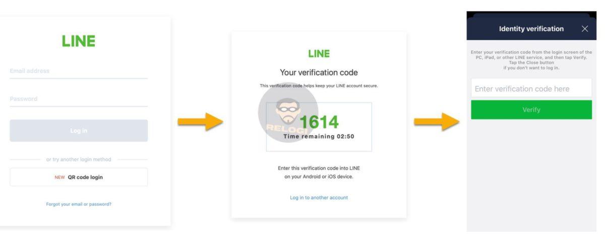 log in line pc verifikasi