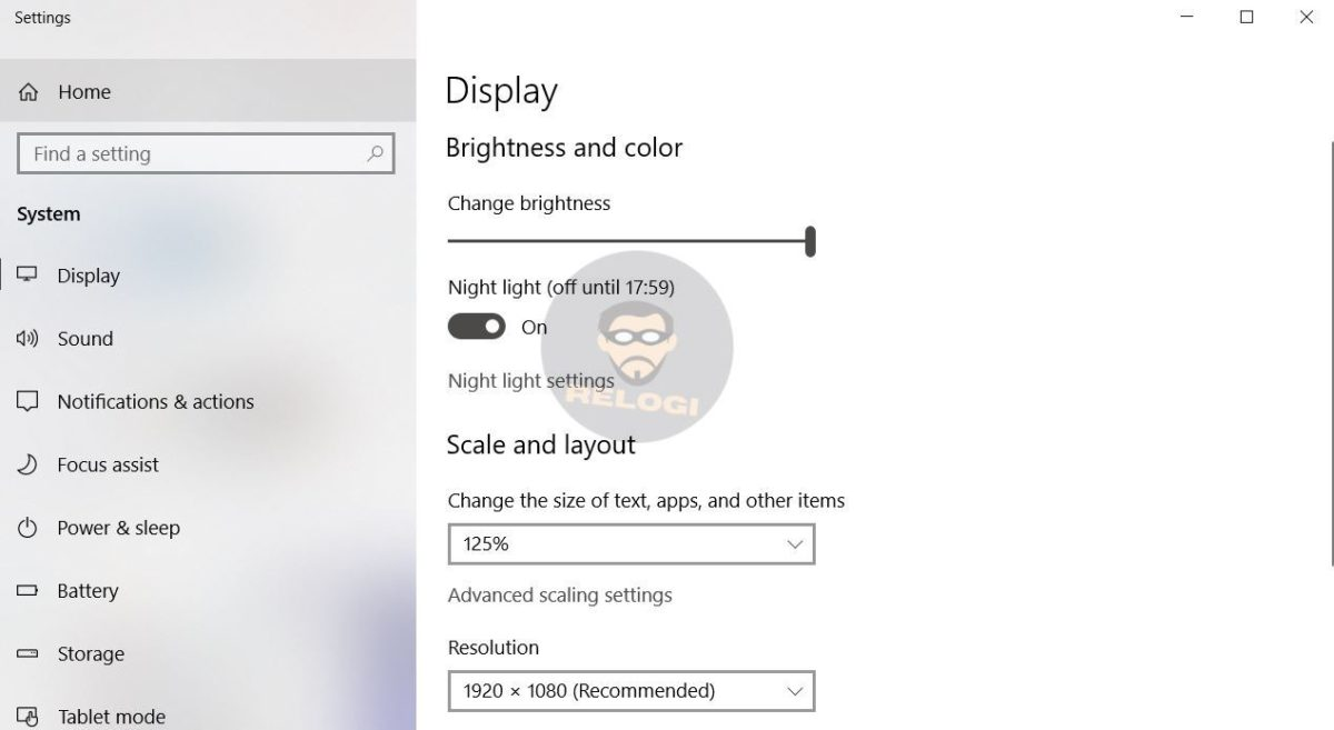 adjust brightness windows
