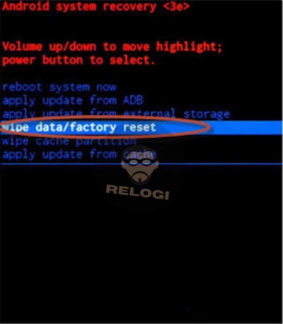 pilih wipe data lenovo a328 saat recovery mode