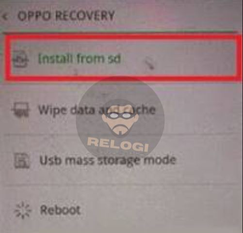 pilih instal dari SD Card oppo a37