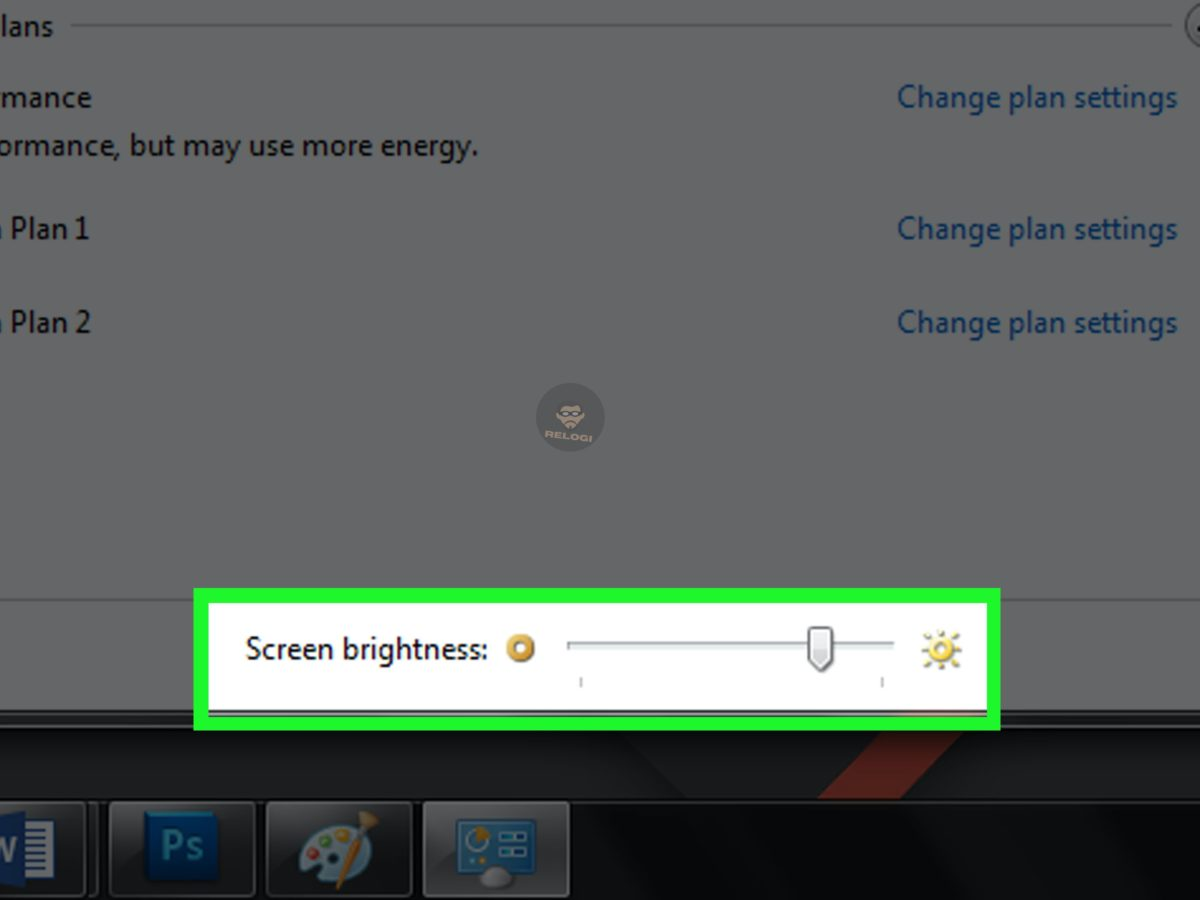 brightness windows 7
