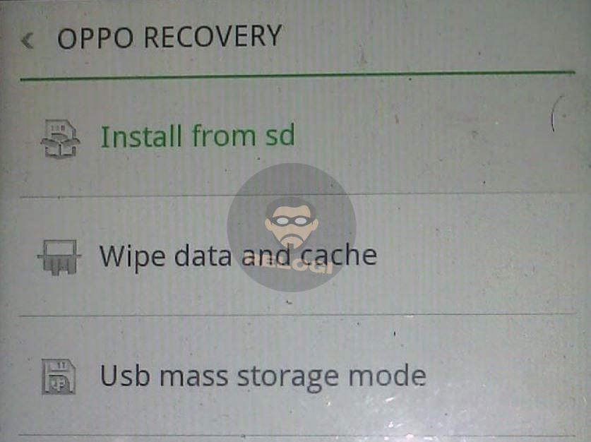 install dari sd card untuk melakukan flash tool